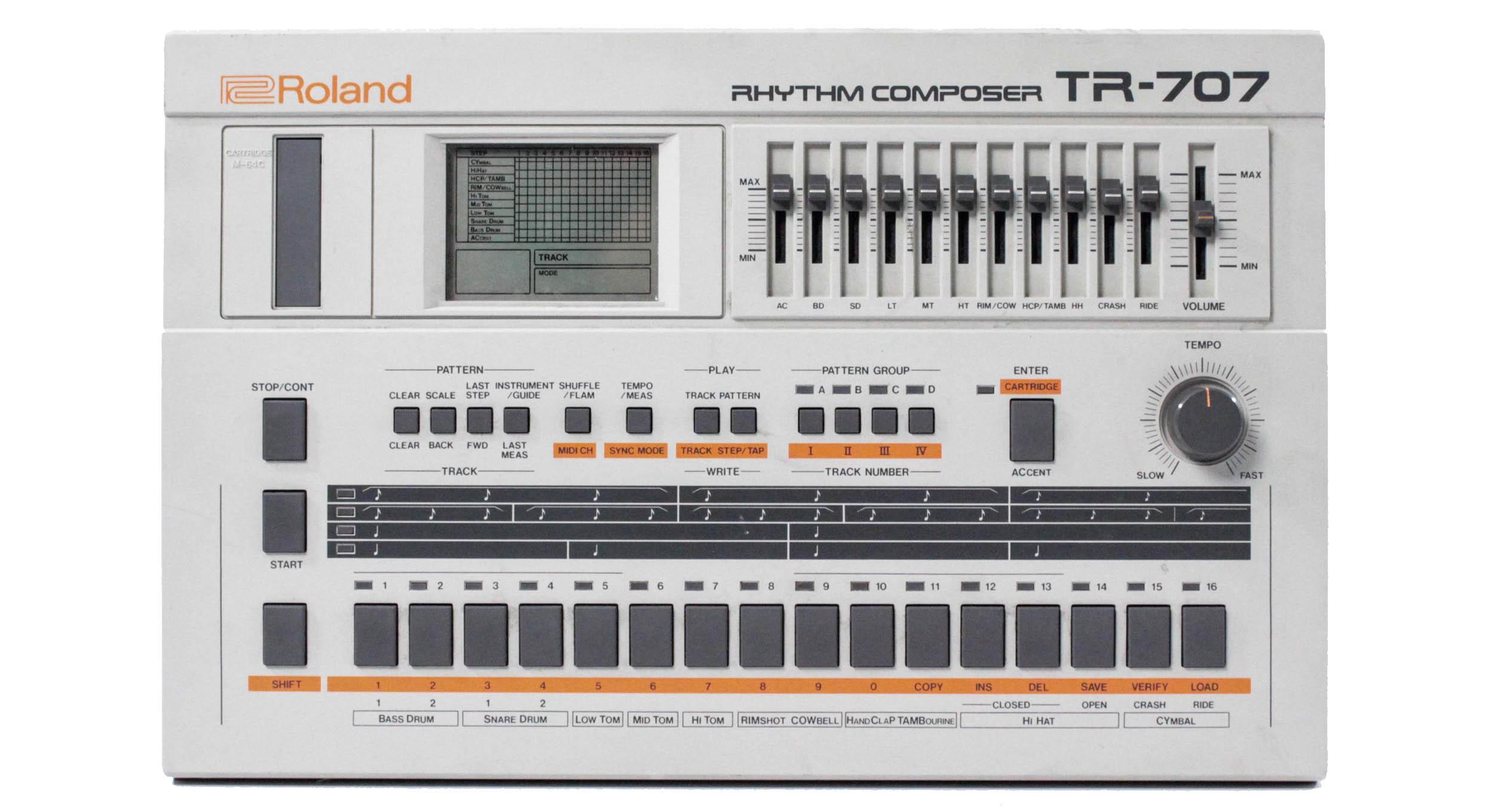 The Prodigy Equipment 187 Roland Tr 707 Rhythm Composer