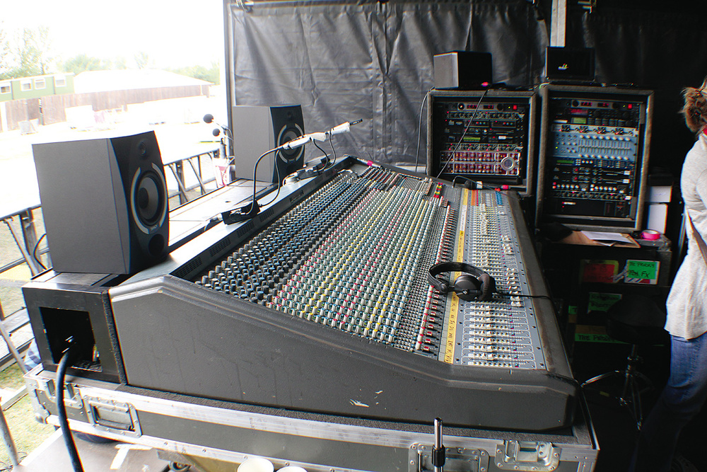 Jon Burton's desk of choice is a Midas XL3.