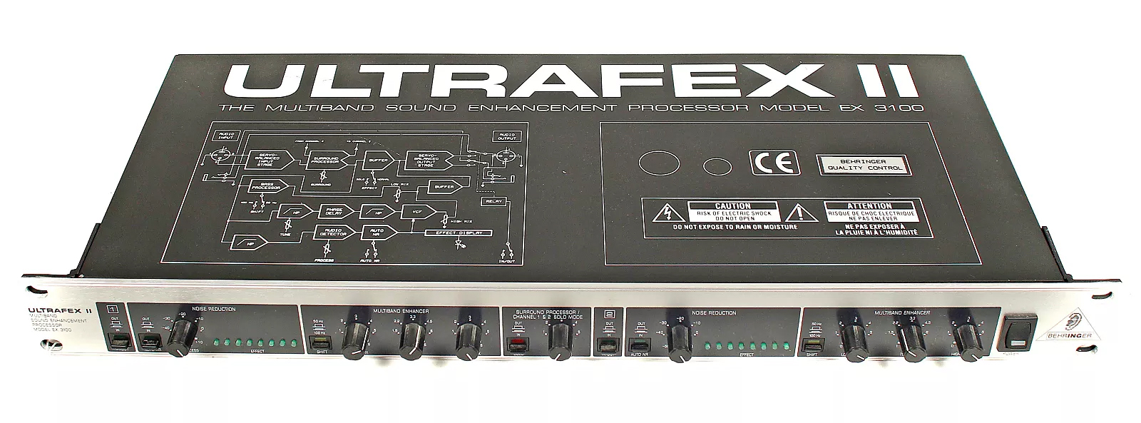 Behringer Ultrafex II EX3100 2-Channel Multiband Sound Enhancement Processor