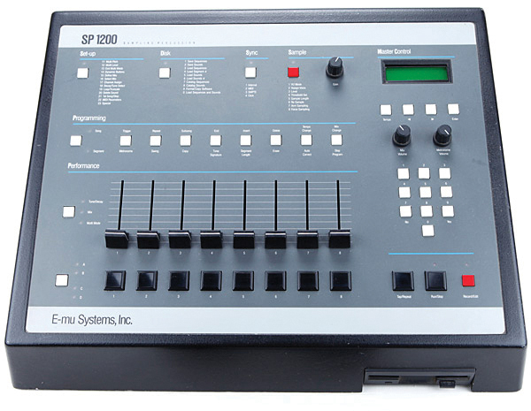 E-MU SP-1200 sampling drum machine