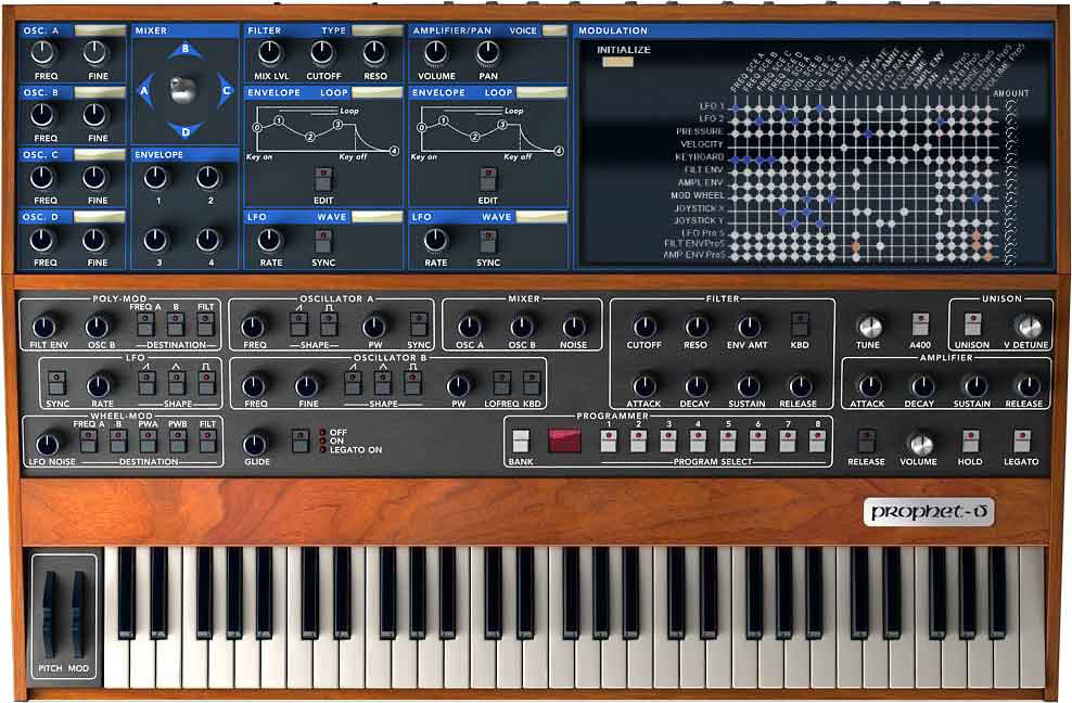 SCI Prophet V - Software synth