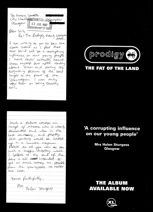 The Fat Of The Land - discography - The Prodigy  info